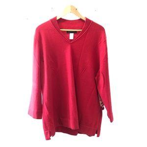 Jones New York Red Cashmere Sweater